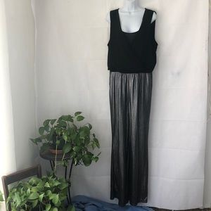 Flashy NY Collection Black & Silver Jumpsuit XL